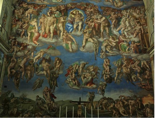 Страшный Суд. Работа Микельанджело