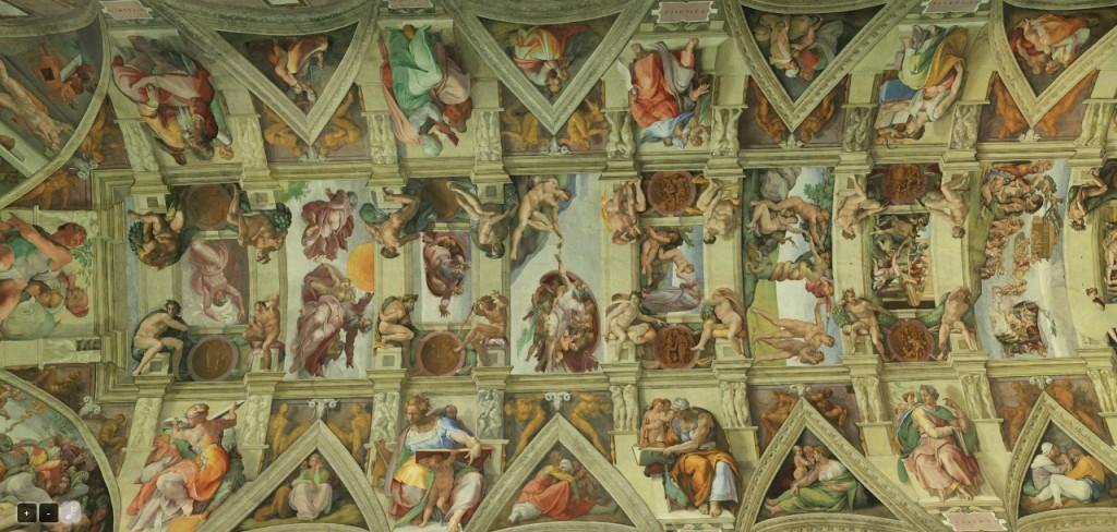 Сикстинская Капелла. Роспись потолка - работа Микельанджело
